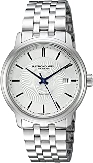 Men's 'Maestro' Swiss Stainless Steel Automatic Watch, Color:Silver-Toned (Model: 2237-ST-65001)