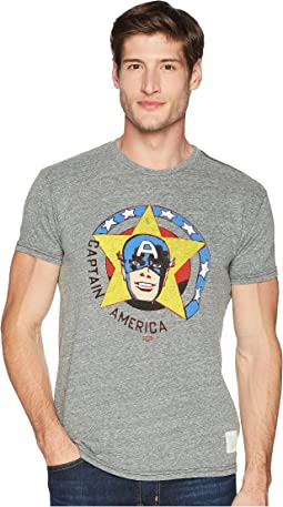 Vintage Short Sleeve Tri-Blend Captain America Tee