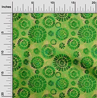 oneOone Velvet Green Fabric Batik Sewing Craft Projects Fabric Prints by Meter 58 Inch Wide