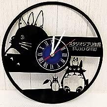 Studio Ghibli Totoro Wall Clock Made from 12 inches / 30 cm Vintage Vinyl Record | Studio Ghibli Movie | Totoro Gift for Women Boys Girls| Ghibli Studio Gift | Studio Ghibli Totoro Merchandise