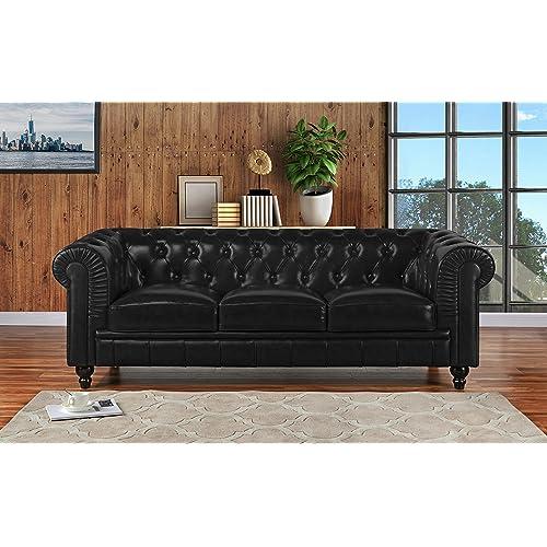Astounding Leather Chesterfield Sofas Amazon Com Customarchery Wood Chair Design Ideas Customarcherynet