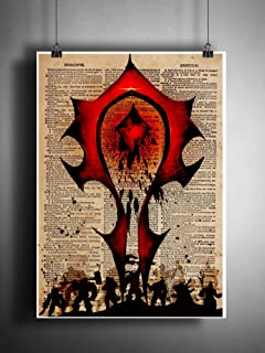 World of warcraft Horde art print, the Horde symbol on dictionary page