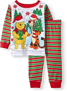 Baby Boys Winnie The Pooh Christmas Cotton Tight Fit Pajamas 24 Months