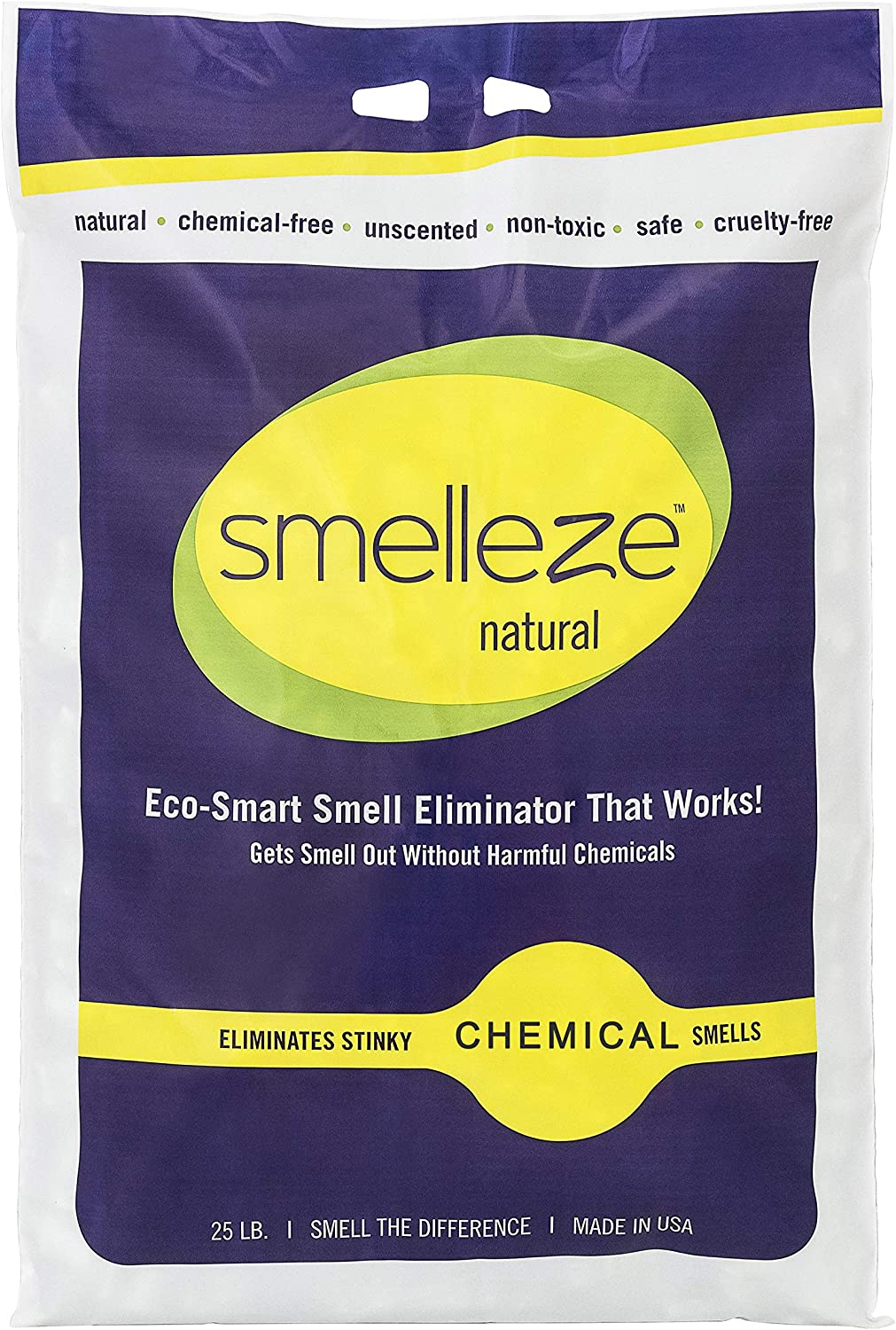 SMELLEZE Natural Chemical Odor Remover: lb. Granules. 25 At the price of surprise discount Long la