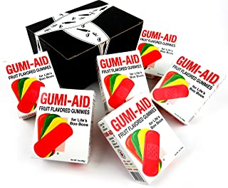 GUMI-AID Fruit Flavored Gummies, 3 oz Packages in a BlackTie Box (Pack of 6)