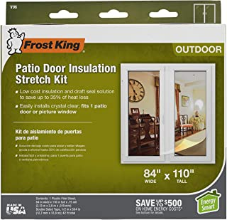 Frost King V96H Outdoor Stretch Window Kit, 84in x 110in, Clear