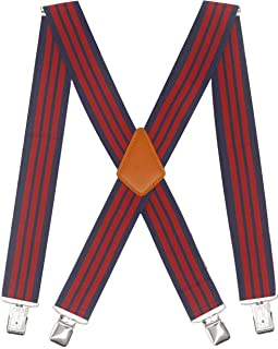 Sponsored Ad - Doloise Men's Suspenders X Back 2 Inches Wide with Extra Heavy Clips Adjustable Braces for Men Suspender