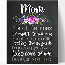 Mom Quote Chalkboard Print 8X10 inches (Mom Floral Times)