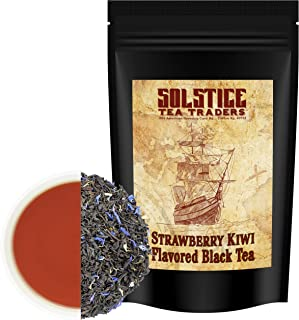Strawberry Kiwi Loose Leaf Black Tea (8-Ounce Bulk Bag), Makes 150+ Cups of Fruit Tea