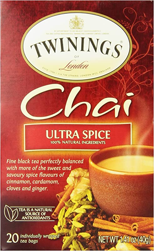 Twinings Of London Ultra Spice Chai Tea Bags 20 Count Pack Of 6