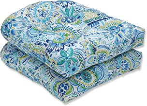 Pillow Perfect Outdoor | Indoor Gilford Baltic Wicker Seat Cushion (Set of 2), 2 Piece