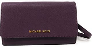 4da3fe508da259 Michael Kors Jet Set Travel Saffiano Leather Small Crossbody Bag Purse  Handbag Iphone Smart Phone Holder