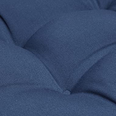 Amazon Basics Tufted Outdoor Patio Bench Cushion 44 x 18 x 4 Inches, Insignia Blue