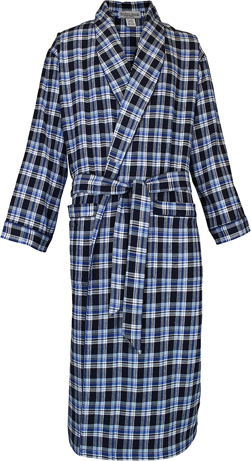 Casual Trends Classical Sleepwear Men/'s 100/% Cotton Flannel Shawl Collar Robe,