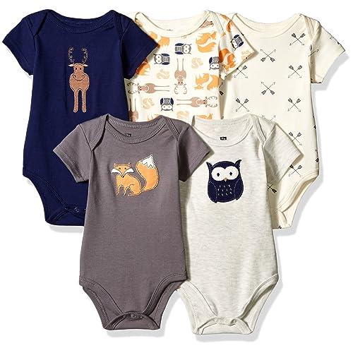 a85c4b75ffa9 Hudson Baby Short Sleeve Bodysuits
