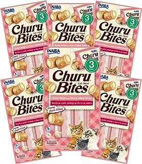 INABA Churu Bites Chicken Wraps Tuna & Salmon 6 Packs, 30 Grams