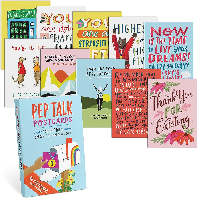 Em 40% OFF Cheap Sale Friends Pep Talk Postcard Book Large-scale sale Each Sty 10 2 Postcards 20