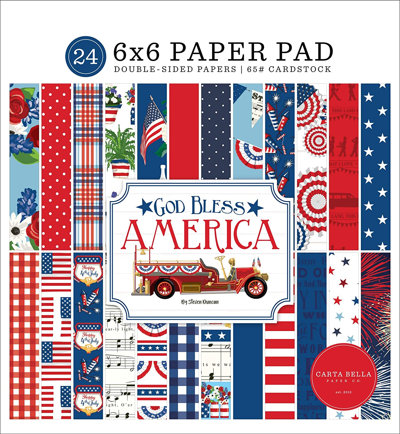 Carta Bella Paper Company God New products, world's highest quality popular! America Bless 6x6 OFFicial store Pad