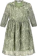 Studio Untold Chiffon-Kleid, gemustert dames jurk