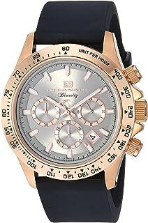 Oceanaut Men's Biarritz Stainless Steel Quartz Watch with Rubber Strap, Black, 23.1 (Model: OC6118R)