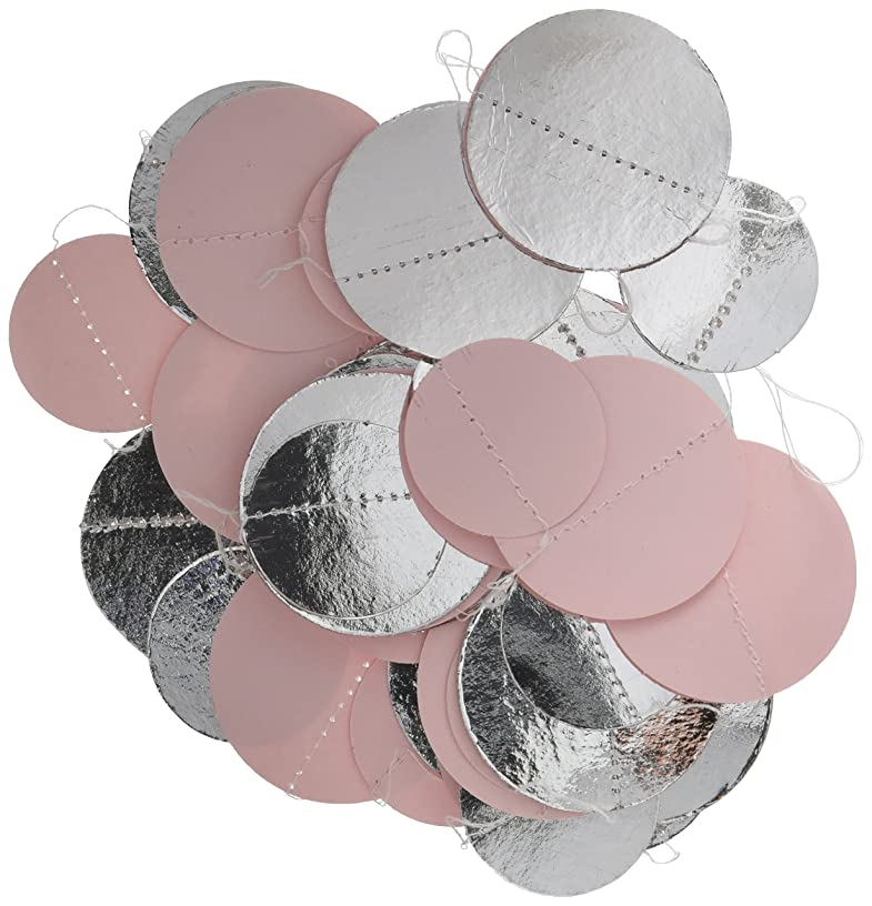 Bridal shower decoration - Pastel Pink-Silver-White Baby Shower Décor - Paper Circle Garland - Pink Birthday Party Decorations - Pink Wedding Backdrop - Gender Reveal - party decorations - home decor