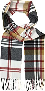 Eedor Womens Mens Fall/Spring Warm Cozy Scarf Classic Plaid Tartan
