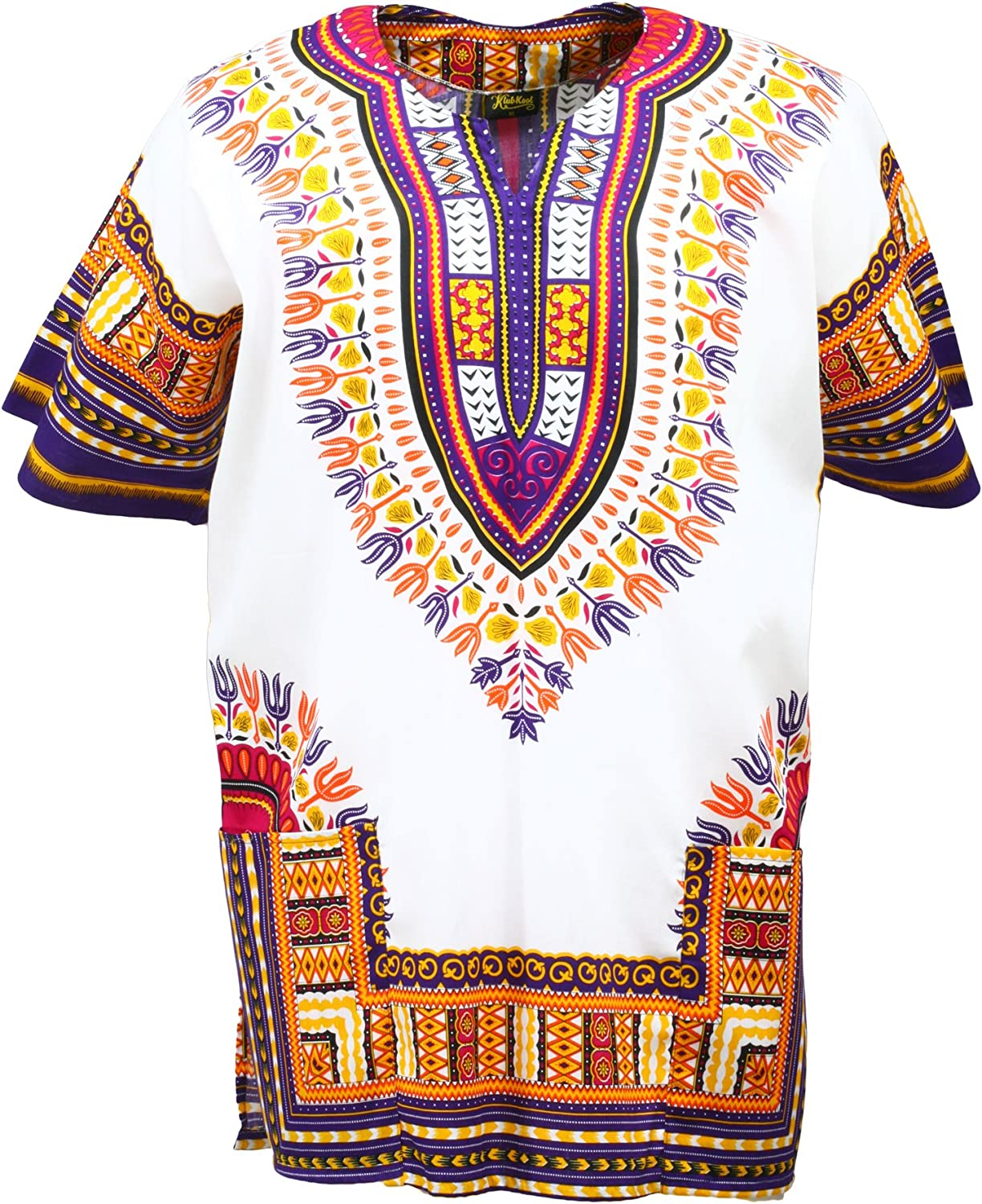 70s Outfits – 70s Style Ideas for Women KlubKool Dashiki Shirt Tribal African Caftan Boho Unisex Top Shirt $12.50 AT vintagedancer.com