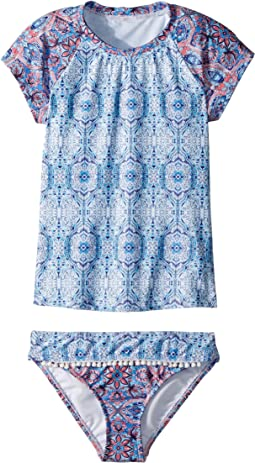 Seafolly Kids - Boho Tile Short Sleeve Surf Set (Little Kids/Big Kids)