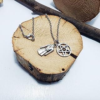 Collana sabrina, con catena in acciaio inox misura 60cm