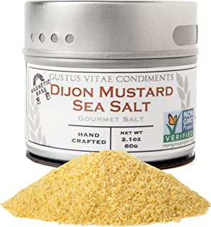 Dijon Mustard Sea Salt | Non GMO Verified | Small Batch Seasoning | Crafted In Small Batches by Gustus Vitae | #22