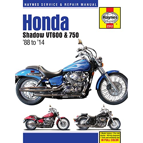 Haynes M2312 Honda Shadow VT600 and VT750 Repair Manual (1988-2014)