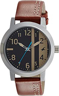 Titan Casual Watch For Men Analog Leather - 3162SL02