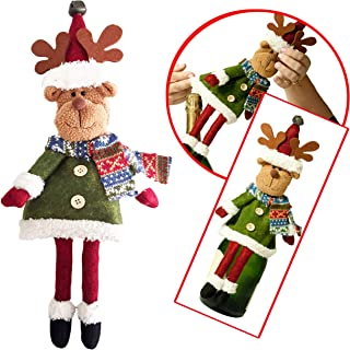 GTP Christmas Wine Bottle Covers – Fun Reindeer Bottle Cover for Kris Kringle, Office Gifts, Table or Christmas Decorations