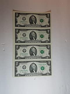 2013 series $2 Bills Uncut 4 Subject Sheet (Qty4)