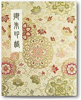 [HOTOKUDO] كتاب مطبوع عليه عبارة «Goshuin-cho» الياباني مع غطاء واقي. (نوع الكتاب، ذهبي. 60 صفحة، بروكيد. الارتفاع: 6.75 ب...