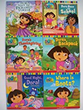 Dora the Explorer Picture Books and Lift-the-Flap Series ( Set of 6) Saves the Enchanted Forest, Goes to School, Thanksgiving, Backpack, Good Night, Where Is Boots