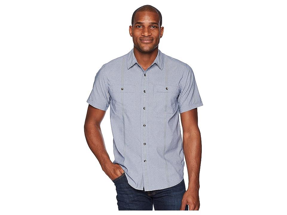 Royal Robbins Vista Dry Short Sleeve Shirt (Deep Blue) Men