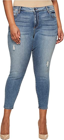 Plus Size Donna Ankle Skinny in Galvanized