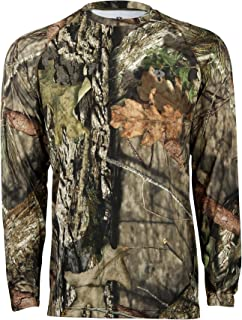 f72deb6af8a97 Mossy Oak Long Sleeve Coolcore Moisture Wicking Camo Hunting Shirt for Men