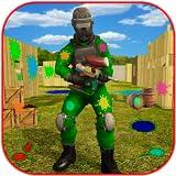 Paintball shooting gun arena