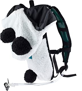 Dan-Pak Hydration Pack 2l - Party Panda - Black and White Plush Furry Hood rave backpack