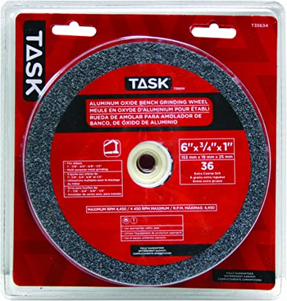 Task Tools T35634 6-Inch by 3/4-Inch Aluminum Oxide Bench Grinding