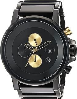 Vestal 'Plexi Acetate' Quartz and Stainless-Steel-Plated Dress Watch, Color:Black (Model: PLA024)