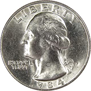1984 P 25c Washington Quarter US Coin Uncirculated Mint State