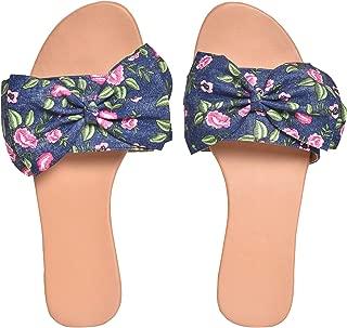 Street Style Womens Casual Wear Flat Sandal | Floral Design Sandal for Women