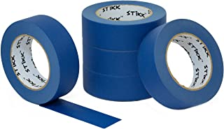 """5 Pack 1.5"""" x 60 yd STIKK Blue Painters Tape 14 Day Clean Release Trim Edge Finishing Masking Tape (1.44 in 36MM)"""