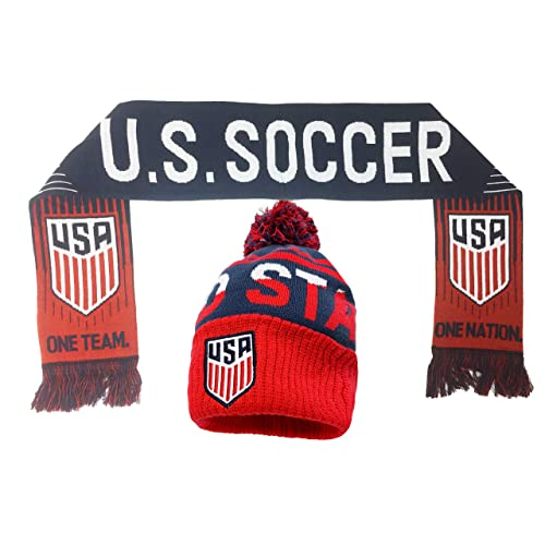 eb06ed3859f Icon Sport USA Soccer Beanie and Scarf Gift Set