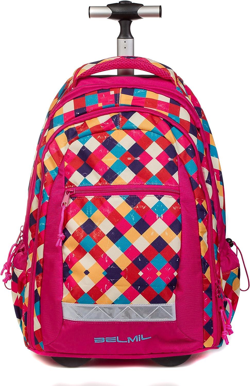 Belmil Trolley Farbe Mix, Rucksack; Trolley und Rucksack in Einem
