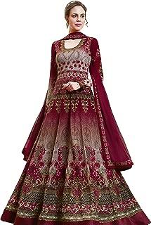 Maroon Anarkali Style Suit