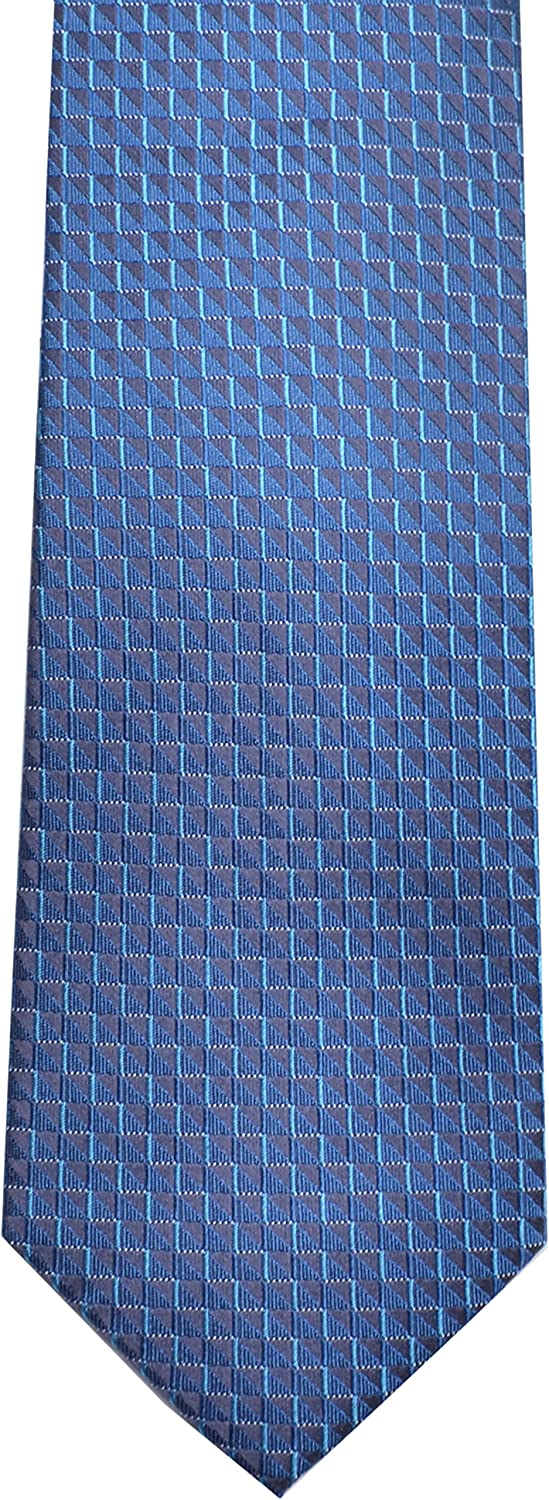 Kenneth Cole Reaction Mens Fashion Neck Tie Mini Zig Zag Teal